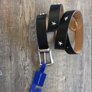 Rebecca minkoff star studded leather belt L black